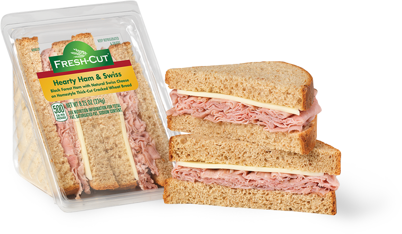 Black Forest Ham & Natural Swiss Hearty Size Wedge